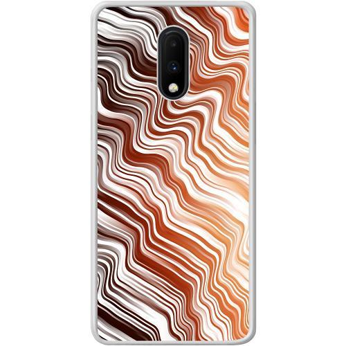 OnePlus 7 Mobilskal Distorted Soundwaves