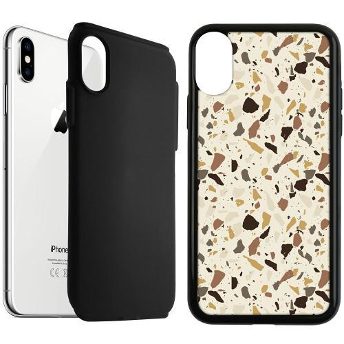 Apple iPhone XS Max Duo Case Svart It's Tile