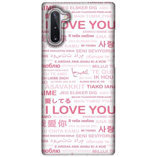 Samsung Galaxy Note 10 LUX Mobilskal (Matt) International Love