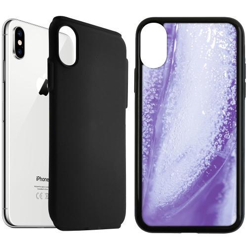 Apple iPhone XS Max Duo Case Svart Glacial Lavendel