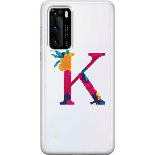 Huawei P40 Thin Case Bokstaven - K