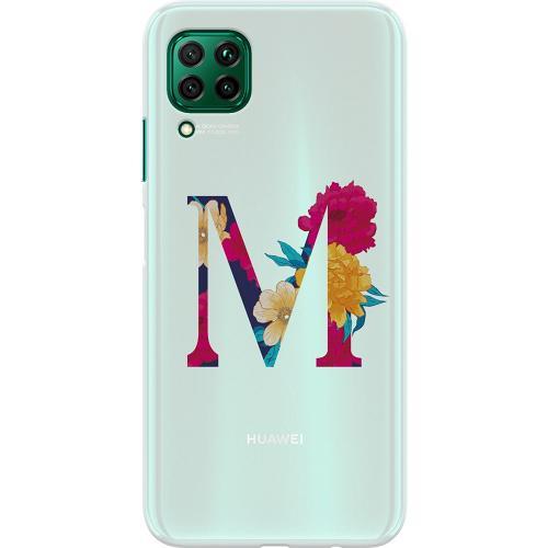 Huawei P40 Lite Thin Case Bokstaven - M