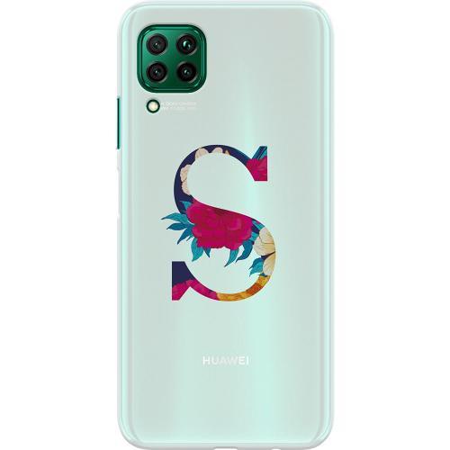 Huawei P40 Lite Thin Case Bokstaven - S