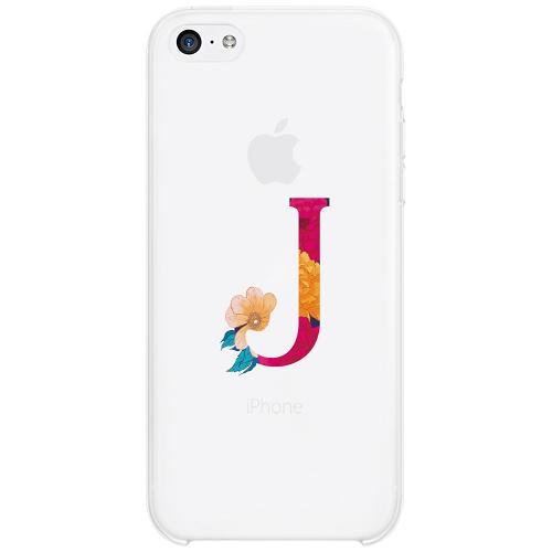 Apple iPhone 5c Firm Case Bokstaven - J