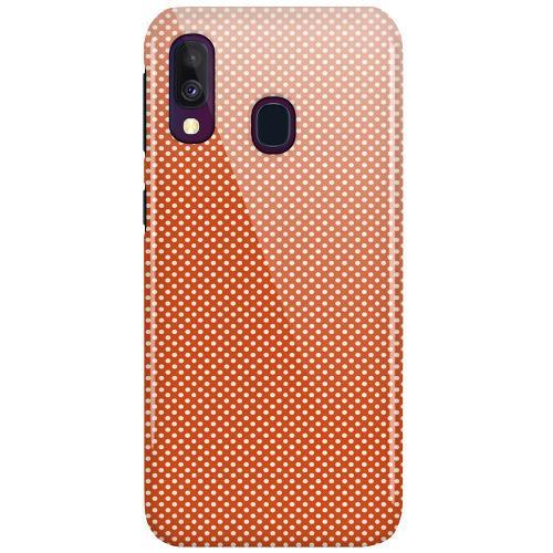 Samsung Galaxy A40 LUX Mobilskal (Glansig) Orange Droplets