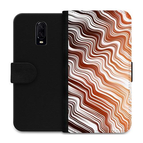 OnePlus 6T Plånboksfodral Distorted Soundwaves