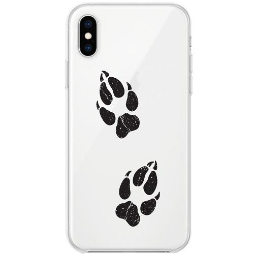Apple iPhone X / XS Thin Case Paw Prints