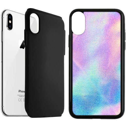 Apple iPhone XS Max Duo Case Svart Frosted Lavender