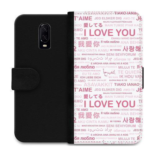 OnePlus 6T Plånboksfodral International Love