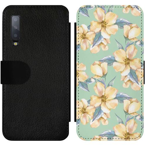Samsung Galaxy A7 (2018) Wallet Slimcase Waterproof Flowers