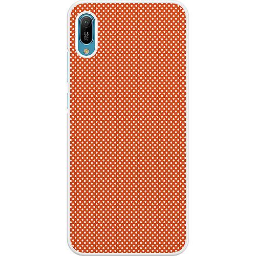 Huawei Y6 (2019) Hard Case (White) Orange Droplets