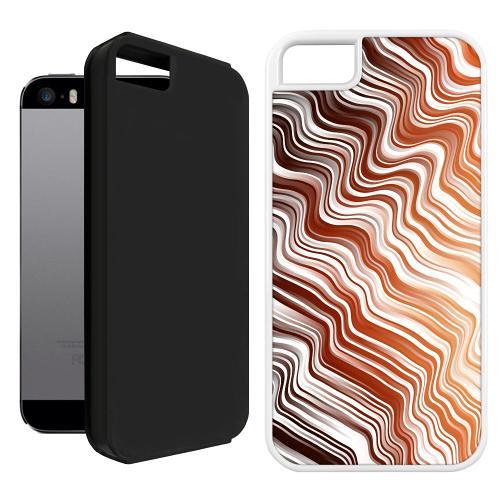 Apple iPhone 5 / 5s / SE Duo Case Svart Distorted Soundwaves