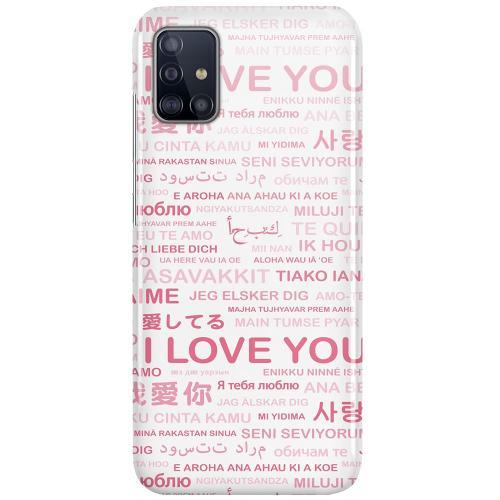 Samsung Galaxy A51 LUX Mobilskal (Glansig) International Love