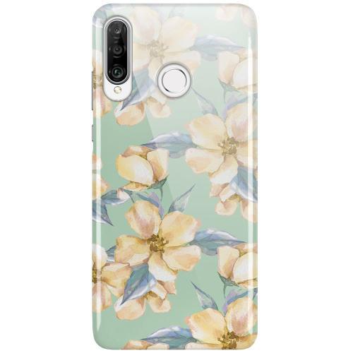 Huawei P30 Lite LUX Mobilskal (Glansig) Waterproof Flowers