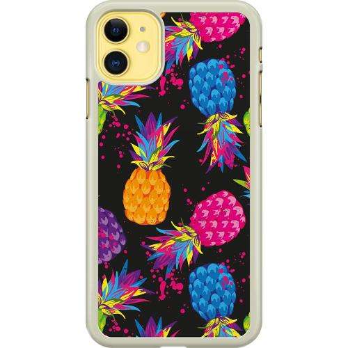 Apple iPhone 11 Hard Case (Transparent) Luminous Pineapple