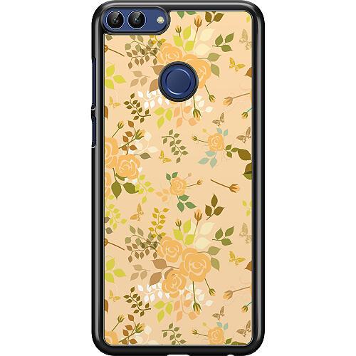 Huawei P Smart (2018) Hard Case (Black) Flowery Tapestry