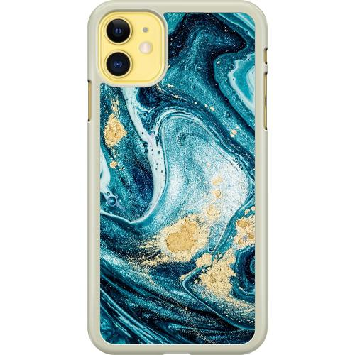 Apple iPhone 11 Hard Case (Transparent) Golden Lavation