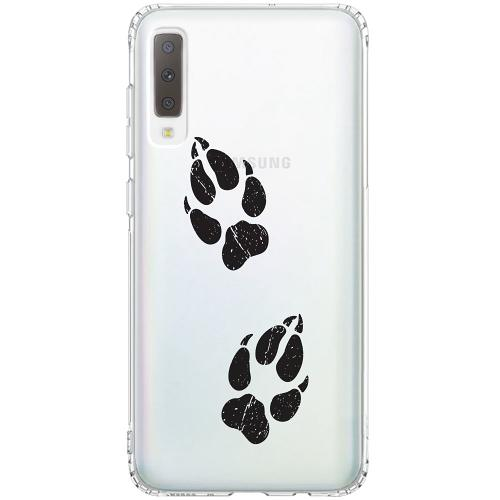 Samsung Galaxy A7 (2018) Thin Case Paw Prints