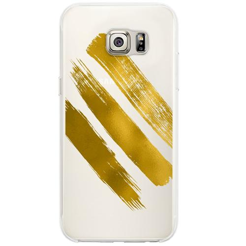 Samsung Galaxy S6 Edge Firm Case Gold Brush