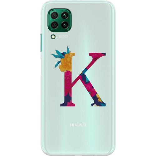 Huawei P40 Lite Thin Case Bokstaven - K
