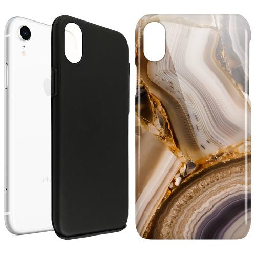 Apple iPhone XR LUX Duo Case Amber Agate