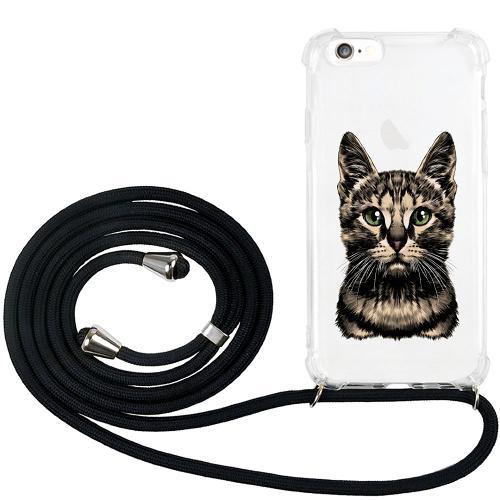 Apple iPhone 6 / 6S GLAM. Case Band Silver Katt