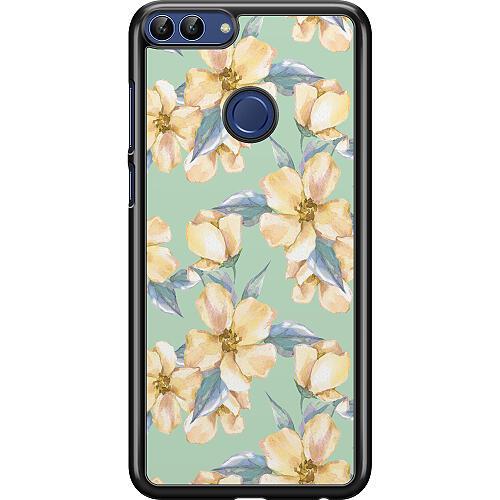 Huawei P Smart (2018) Hard Case (Black) Waterproof Flowers