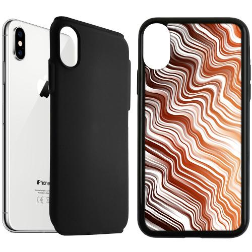 Apple iPhone XS Max Duo Case Svart Distorted Soundwaves