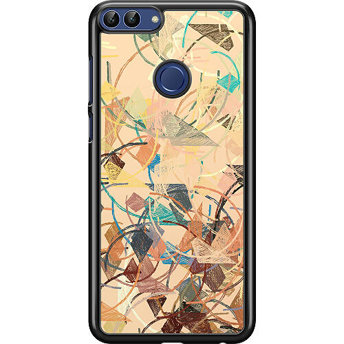 Huawei P Smart (2018) Hard Case (Black) Colourful Expectations