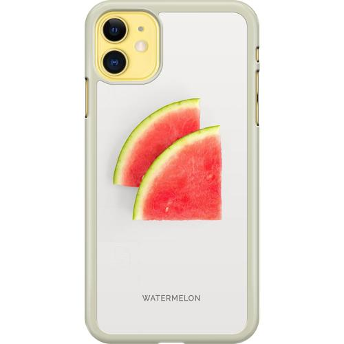 Apple iPhone 11 Hard Case (Transparent) Watermelon