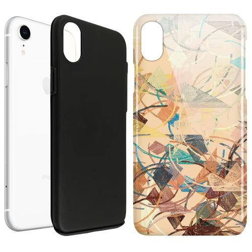 Apple iPhone XR LUX Duo Case Colourful Expectations