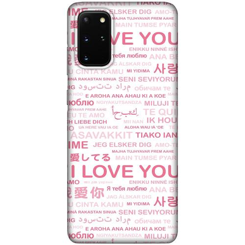 Samsung Galaxy S20 Plus LUX Mobilskal (Matt) International Love