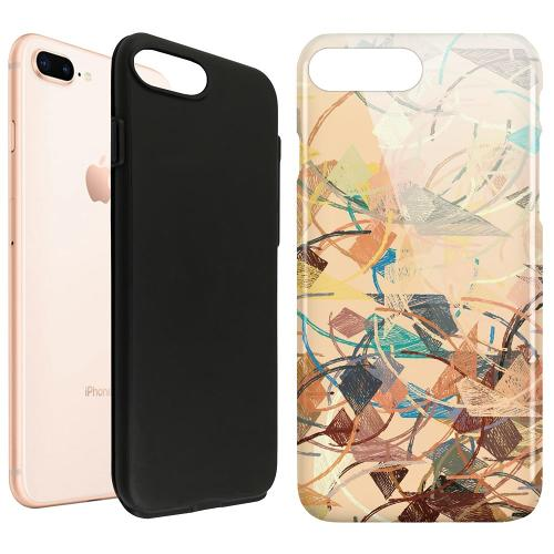 Apple iPhone 8 Plus LUX Duo Case Colourful Expectations