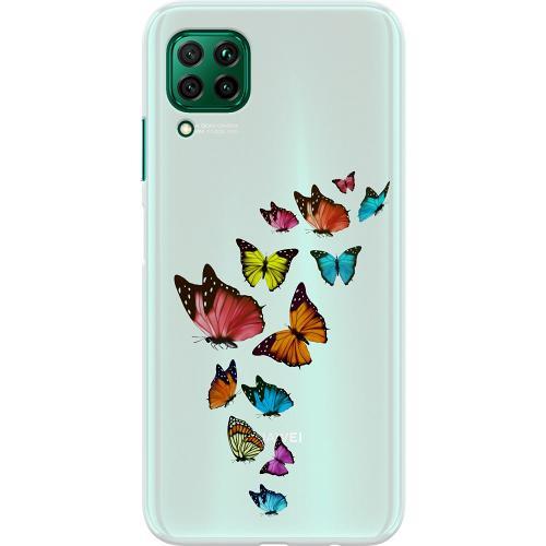 Huawei P40 Lite Thin Case Fjärilar