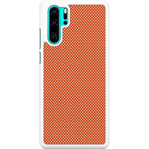 Huawei P30 Pro Hard Case (White) Orange Droplets