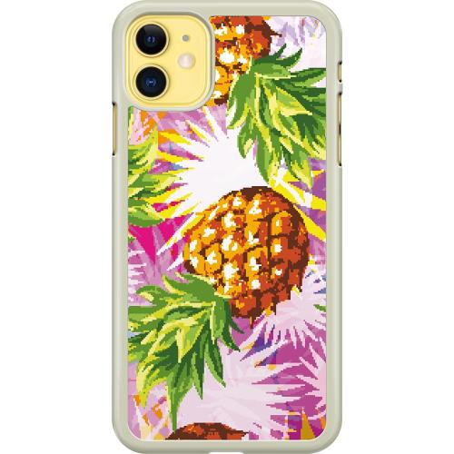 Apple iPhone 11 Hard Case (Transparent) Fruits on Bits