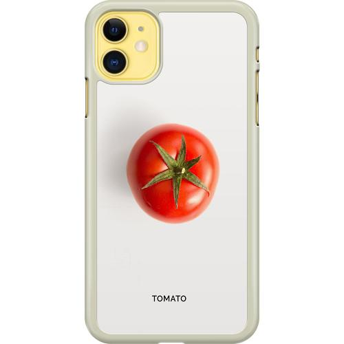 Apple iPhone 11 Hard Case (Transparent) Tomato