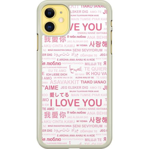 Apple iPhone 11 Hard Case (Transparent) International Love