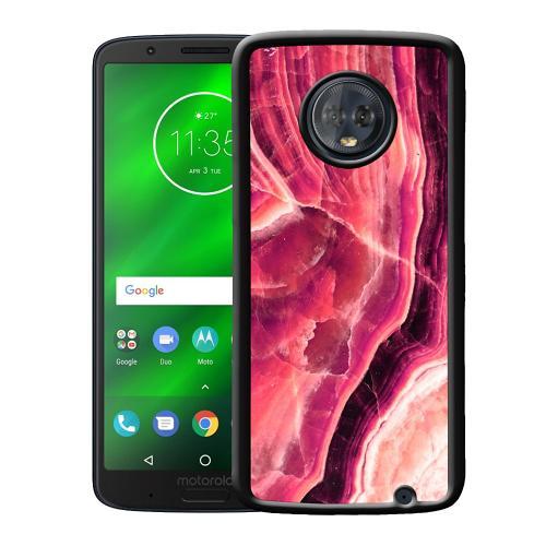 Motorola Moto G6 Plus Mobilskal Metamorphic Ruby