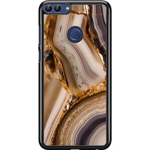 Huawei P Smart (2018) Hard Case (Black) Amber Agate