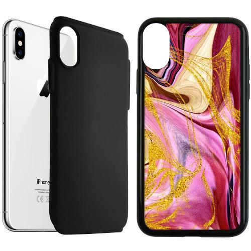 Apple iPhone XS Max Duo Case Svart Impulsive Changes