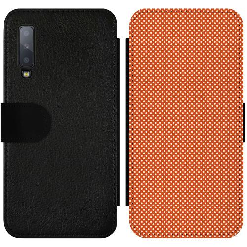 Samsung Galaxy A7 (2018) Wallet Slimcase Orange Droplets