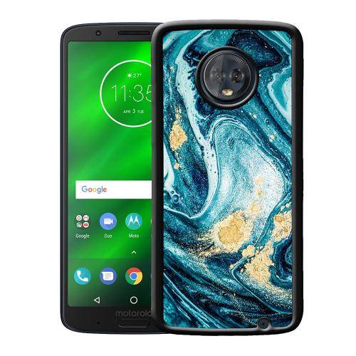 Motorola Moto G6 Plus Mobilskal Golden Lavation