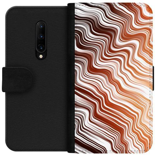 OnePlus 7T Pro Plånboksfodral Distorted Soundwaves