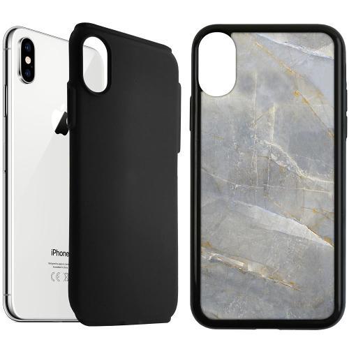 Apple iPhone XS Max Duo Case Svart Coarse Stone