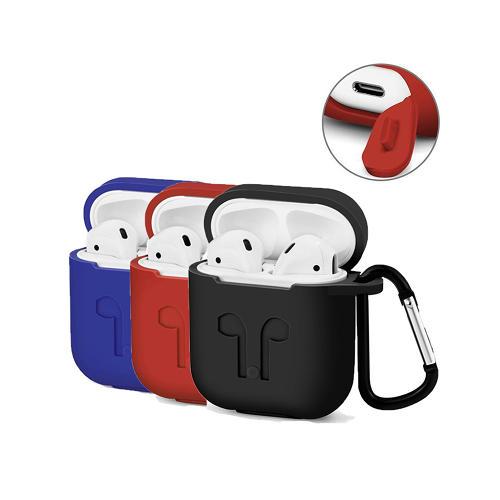 Apple AirPod Silikonfodral med karbinhake - 6 olika färger