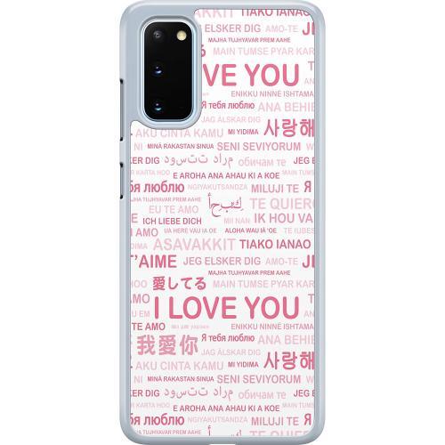 Samsung Galaxy S20 Hard Case (Transparent) International Love