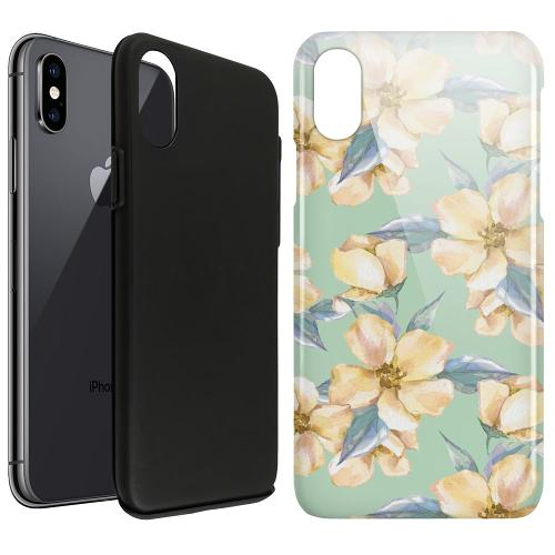 Apple iPhone X / XS LUX Duo Case Waterproof Flowers