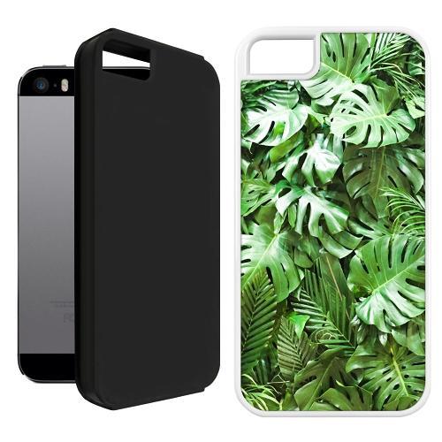 Apple iPhone 5 / 5s / SE Duo Case Svart Green Conditions