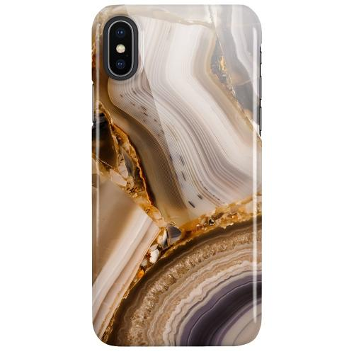 Apple iPhone X / XS LUX Mobilskal (Glansig) Amber Agate